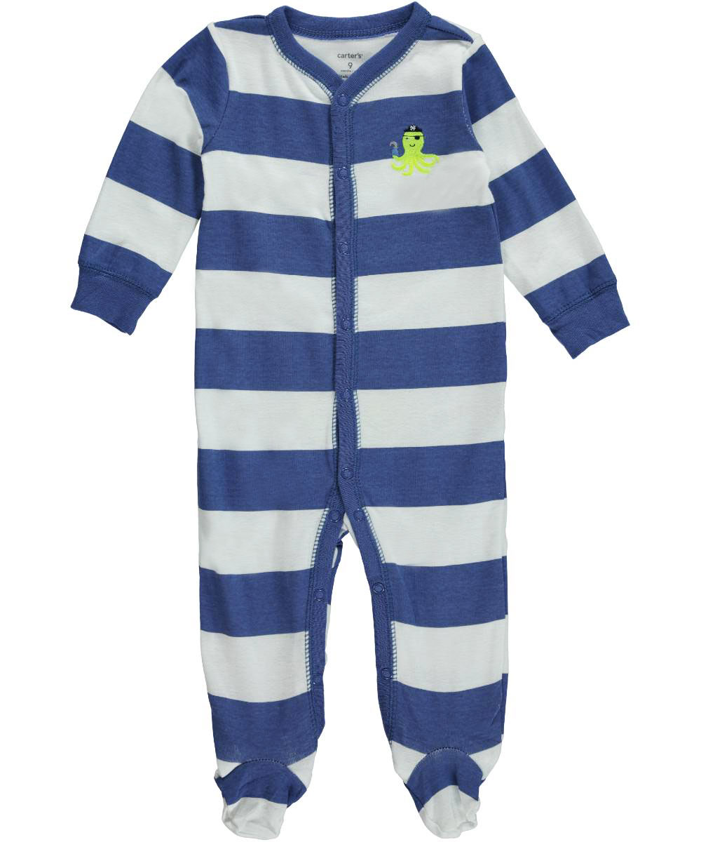 """Carter's Baby Boys' """"Octopus Pirate"""" Footed Coverall"""