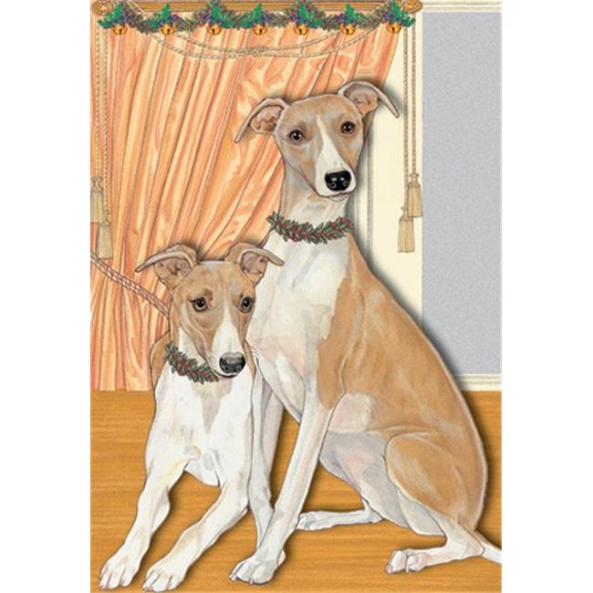Pipsqueak Productions C885 Holiday Boxed Cards- Whippet