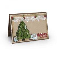 Sizzix Thinlits Die Set 9PK Christmas Tree Flip & Fold by Katelyn Lizardi