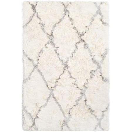 Surya CSR1000-1616 18 in. Corsair Shag Sample Area Rug - Cream, Light Gray