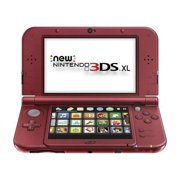 Nintendo New 3DS XL Bundle (2 Items): Nintendo New 3DS XL - Red, and an AC Adapter