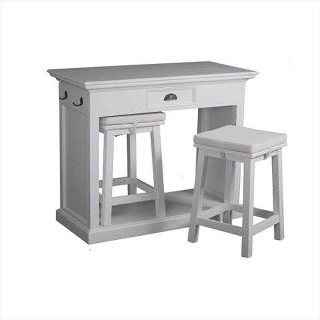 Infinita Halifax Counter Bar - White Distressed