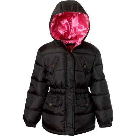 pink platinum girl's anorak jacket with patch and satin - Pink Satin Jacket Cheap