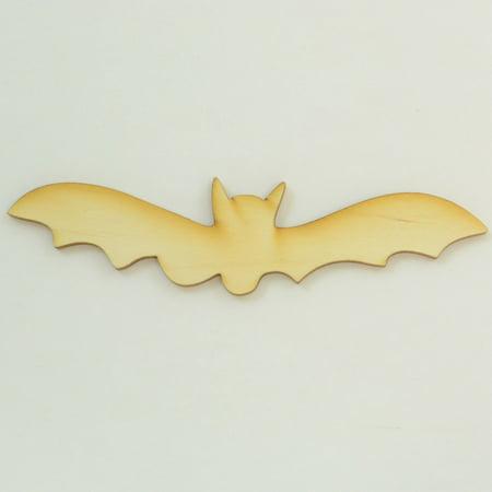 Package Of 10, Bat Wood Cutout Small 4.5 Inch X 1.25 - Bat Cutouts