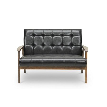 Contemporary Loveseat Leatherette Brown 1380 Wholesale Interiors Leather Loveseat