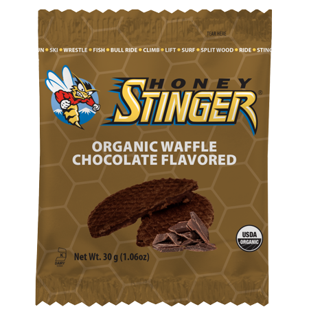 Honey Stinger Organic Energy Waffles, Chocolate, 16 Ct