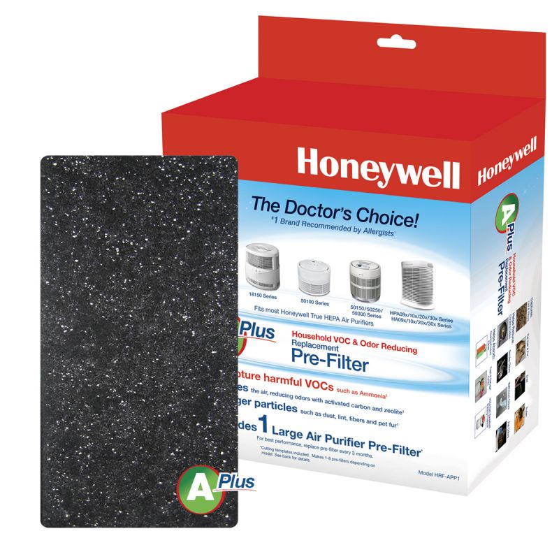 "Honeywell Premium Odor and Gas Reducing Type Pre-Fiter ""A+"", 1 Pack"