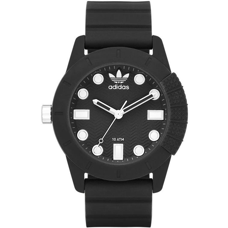 Adidas Men's 44mm Black Silicone Band Plastic Case Quartz Analog Watch ADH3101 by Adidas