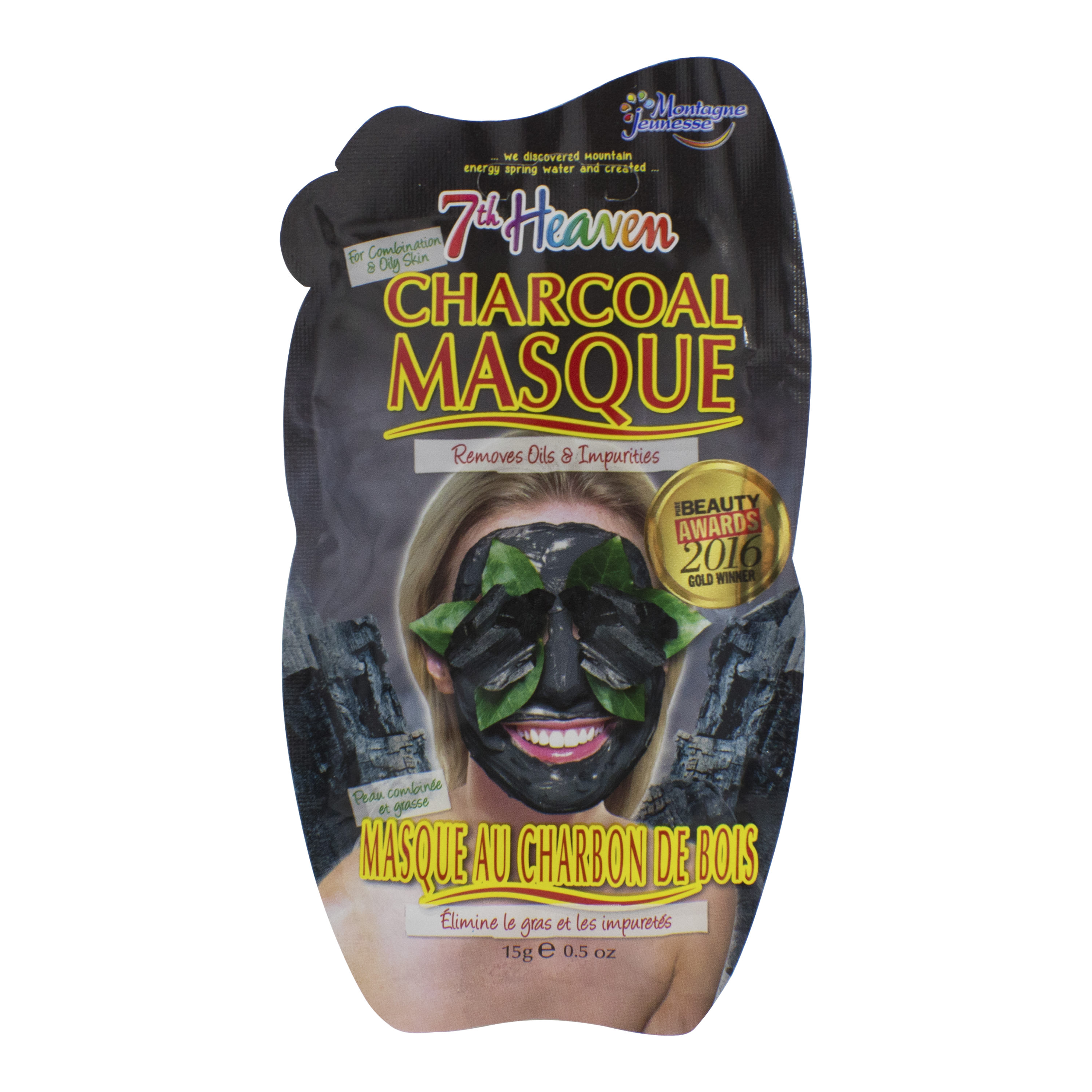 7th Heaven Charcoal Peel-Off Face Mask, 0.5 fl oz