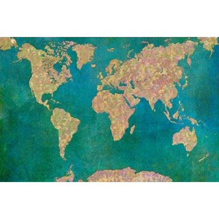 World Map Ii Poster Print By  Cora Niele