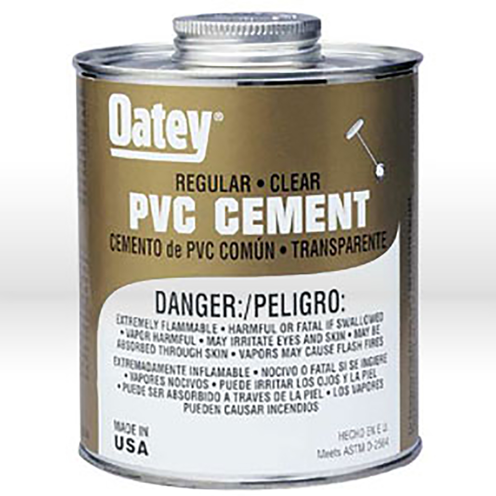 Oatey SCS Oatey 31014 PVC Regular Cement Clear 16-Ounce Meets ASTM D-2564. Oatey