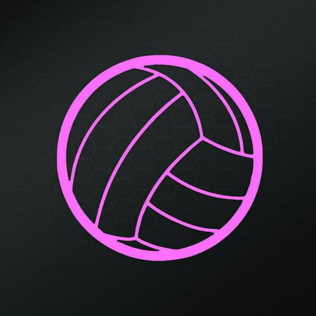 Volleyball Vinyl Decal Sticker | Cars Trucks Vans Walls Windows Laptops | Pink | 5 Inch | Keen90P