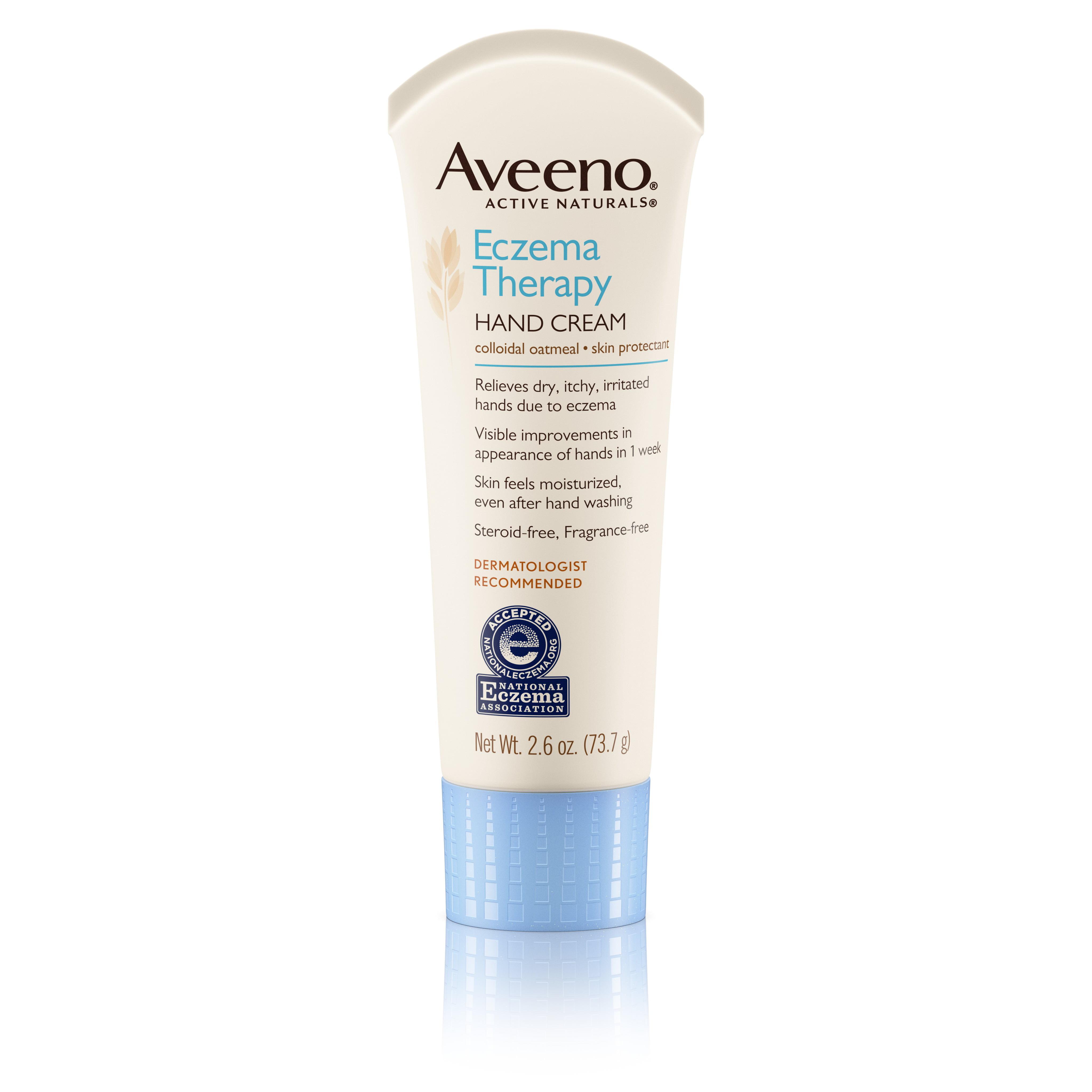 Aveeno Eczema Therapy Hand & Face Cream, Travel-Size Lotion, 2.6 oz