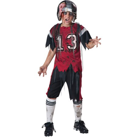 Dead Zone Football Zombie Kids Costume - Football Player Costume Diy