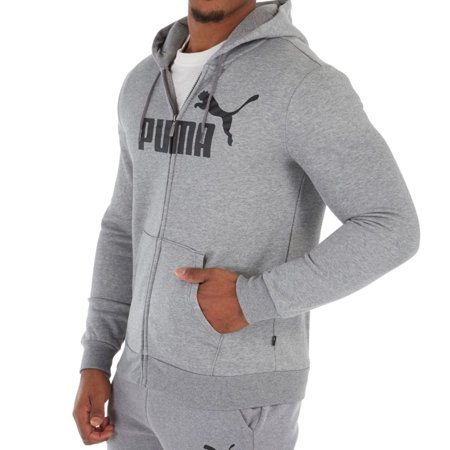 99e0130a6e32f Men's Puma 851765 ESS Big Logo Full Zip Hoody