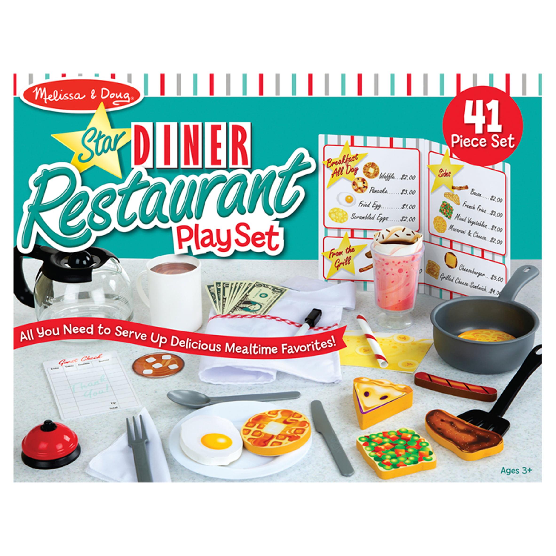 Melissa Doug Star Diner Restaurant Play Set Walmart Com Walmart Com