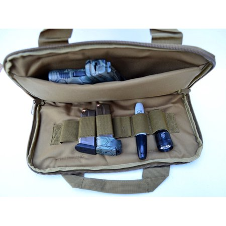 Acid Tactical® Pistol Gun Range bag concealed Carry Pouch for Hand Guns FREESHIP Tan / Khaki thumbnail