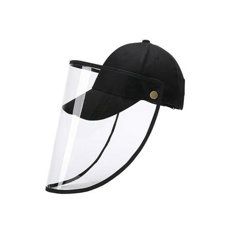 Selfieee Adult Unisex Safety Face Shield Visor Mask Full Face Protective Baseball Hat for Adult 00045 Black Ratchet Face Shield