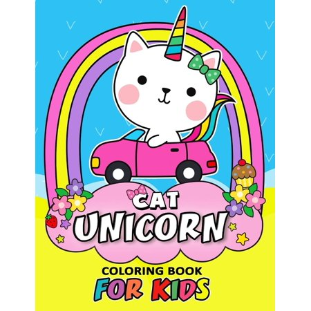 Cat Unicorn Coloring Book for Kids: Coloring Book Easy, Fun, Beautiful Coloring Pages (Girls, Teen and Adults) - Halloween Coloring Page Cat