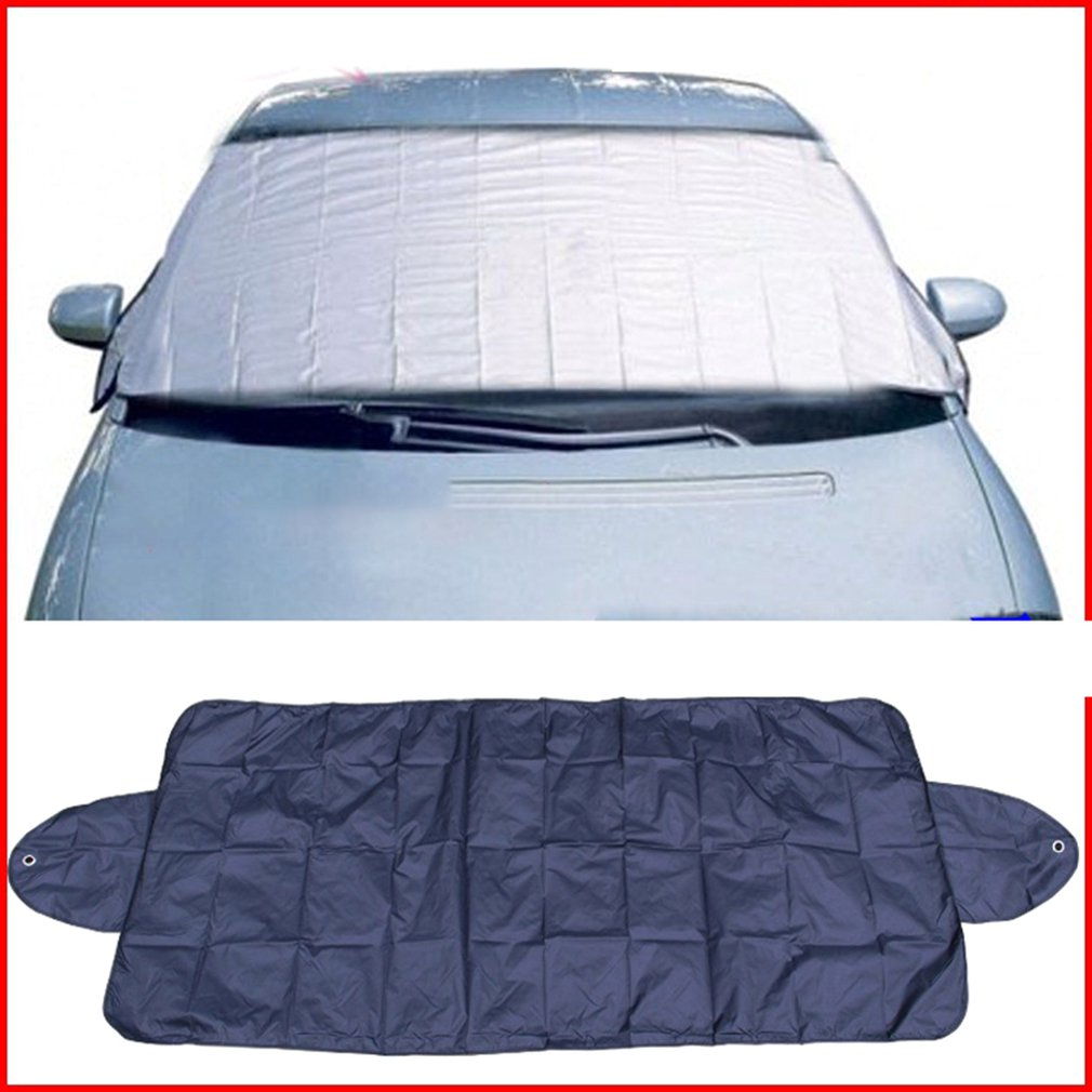 150 70Cm Car Snow Block Car Front Windshield Cover Frost-Proof Anti-Icing Half-Car Clothing Car Cover Protective Cover