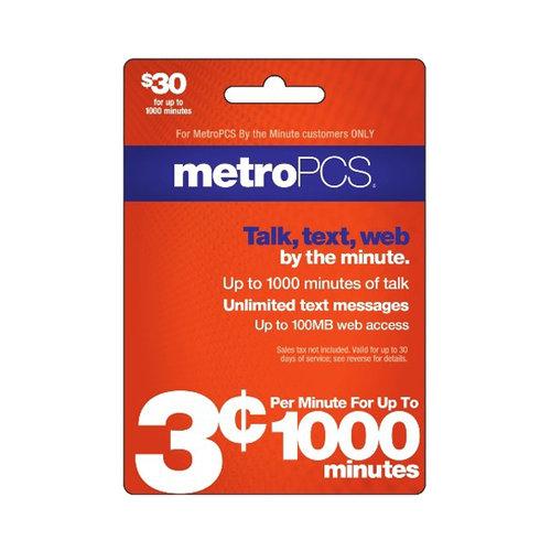 Metro PCS $30 Card
