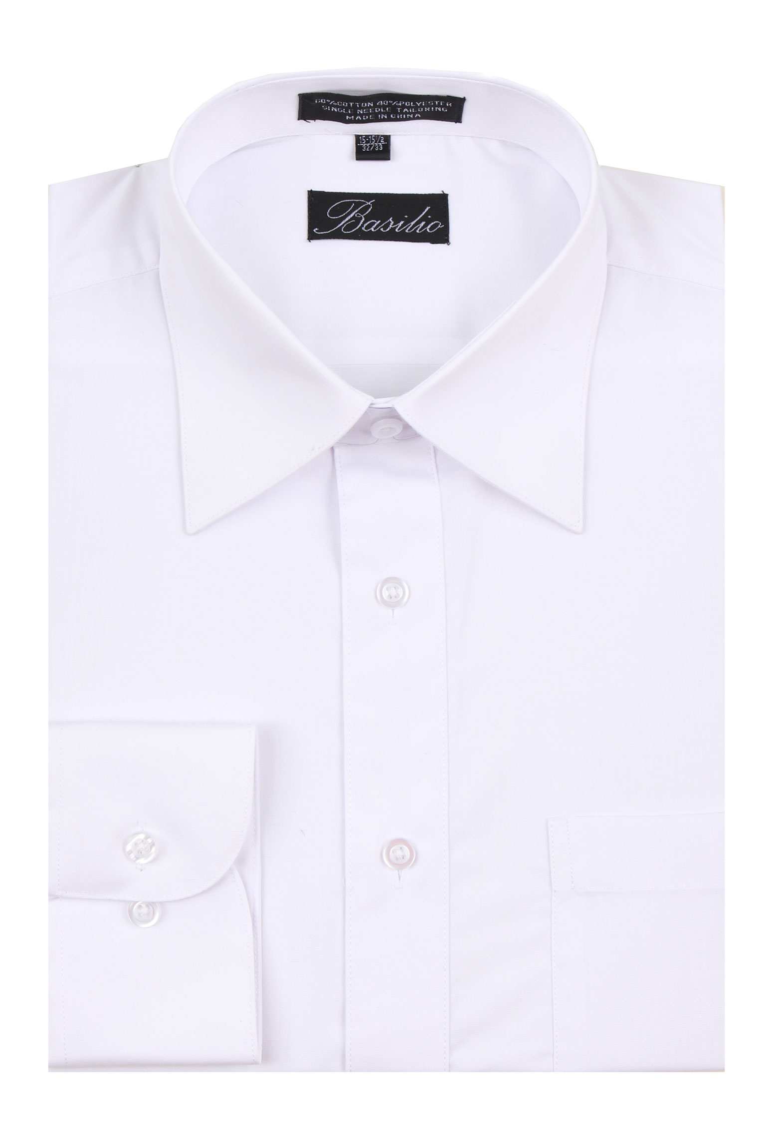Men's Basilio Convertible Cuff Solid Dress Shirt - Many Colors Available