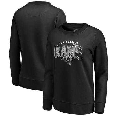 30866727 Los Angeles Rams NFL Pro Line by Fanatics Branded Women's Arch Smoke Crew  Neck Fleece Sweatshirt - Black