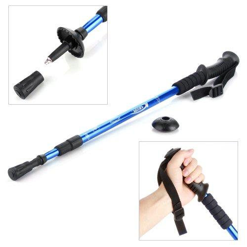 Pair Trekking Hiking Stick Pole Alpenstock Adjustable Telescoping Anti  Shock Nordic Walking Mountaineering