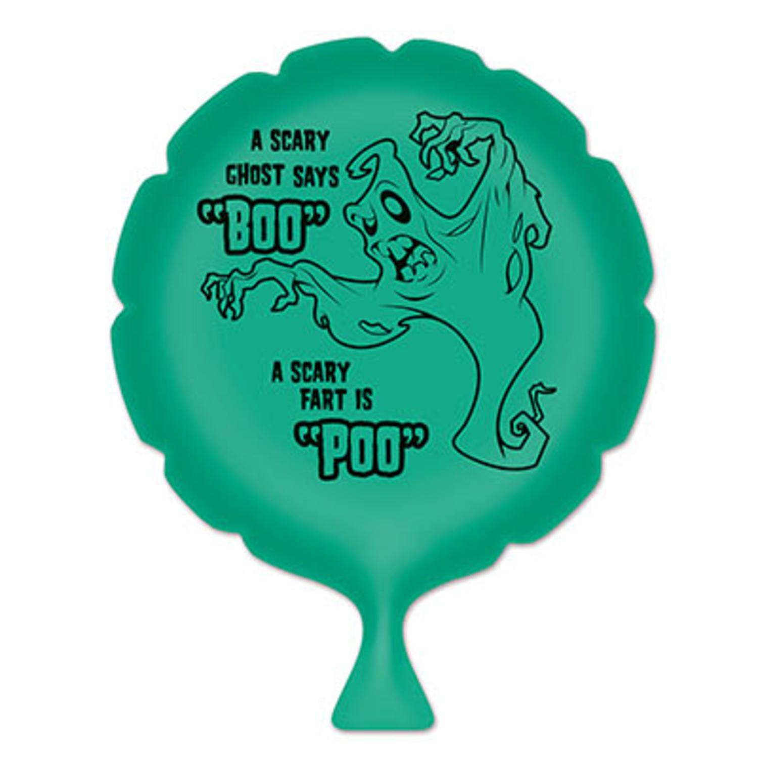 """Pack of 6 Green """"A Scary Ghost Says Boo"""" Whoopee Cushion Halloween Party Favors 8"""""""