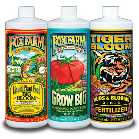 Image of FoxFarm Hydro Formula Nutrients Trio 3 Quarts Liquid Plant Fertilizers FX14050