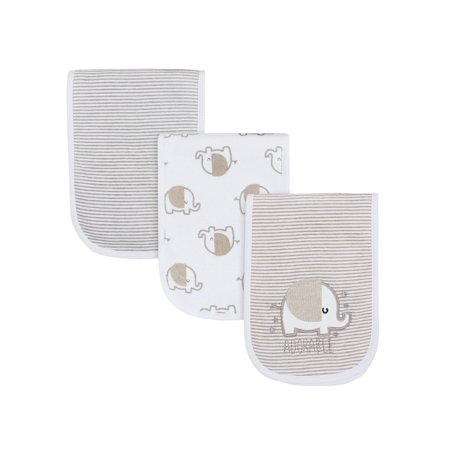 Gerber Assorted Terry Burp Cloth Set, 3pk (Baby Boys or Baby Girls, Unisex)