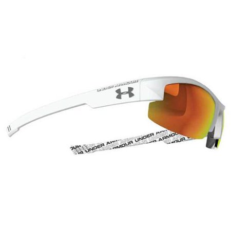 6a15681883 Under Armour Nitro L Sunglasses Shiny White   Orange - Walmart.com