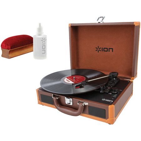 ION IT45DX Vinyl Motion Deluxe Portable Turntable and ICT07 Restoration Kit