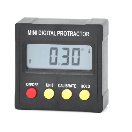 Mini digital protractor inclinometer clinometer angle finder Upright Magnet 360?