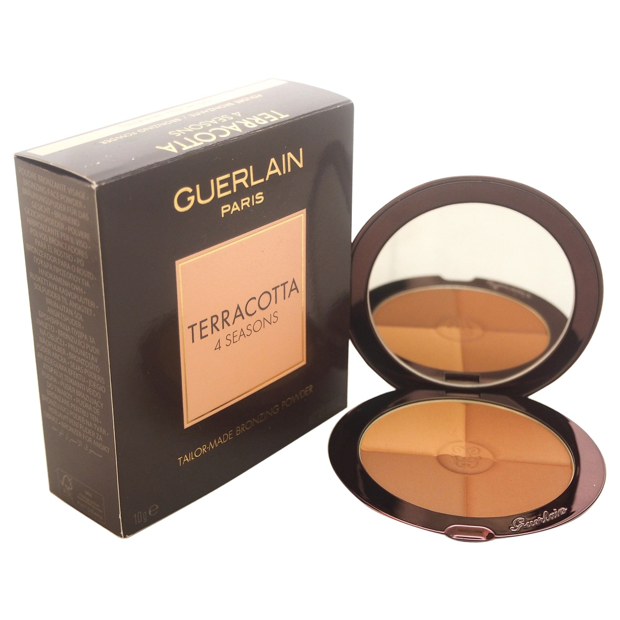 Guerlain Terracotta 4 Seasons Contour and Bronzing Powder with SPF 10, 05 Moyen Brunettes, 0.35 Oz