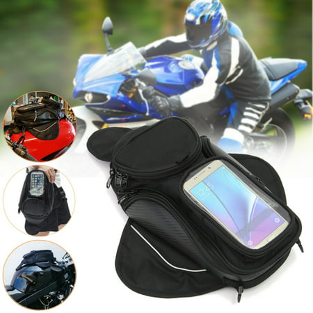 Universal Magnetic Motorcycle Bike Tank Bag Shoulder Bags Waterproof Pocket Saddle Bag Transparent Cell Phone Pocket 800D (Motorcycle Tank Bag Review)