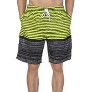 LELINTA Mens Swim Trunks Board Shorts Bathing Suits Elastic Waist Drawstring with Mesh Lining