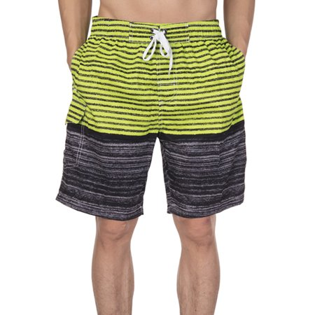 LELINTA Mens Breathable Swim Trunks Pants Swimwear Shorts Slim Wear Stripe (Slim Swim Shorts)