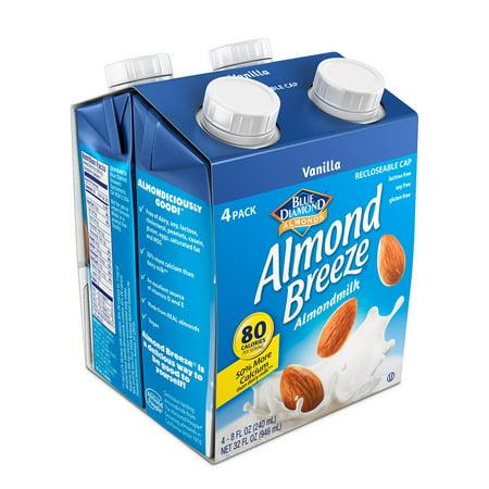 Almond Breeze Almond Milk, Vanilla 8 fl oz, 4 Count ()