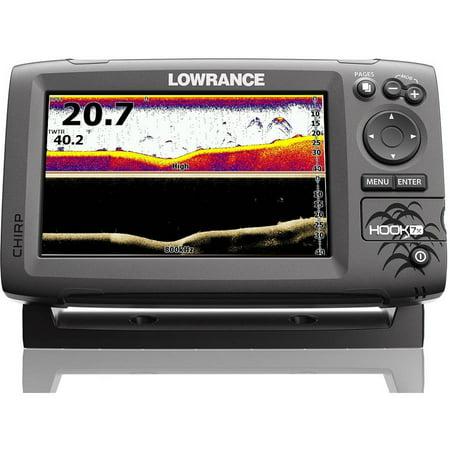 Lowrance Hook-7X Sonar Mid/High/Downscan Fishfinder Fish