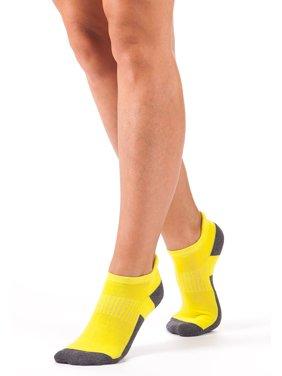 Bellissima Women's Athletic No Show Socks Running Cycling Cushion Sock (Grey 5-8)
