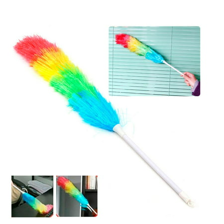 Pink Feather Duster (1pc Soft Magic Plastic Feather Duster Anti Static Car Home Window Cleaner)