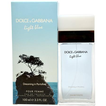 Dolce & Gabbana Light Blue Dreaming in Portofino Eau de Toilette Spray For Women 3.3 Oz - Woman In Light