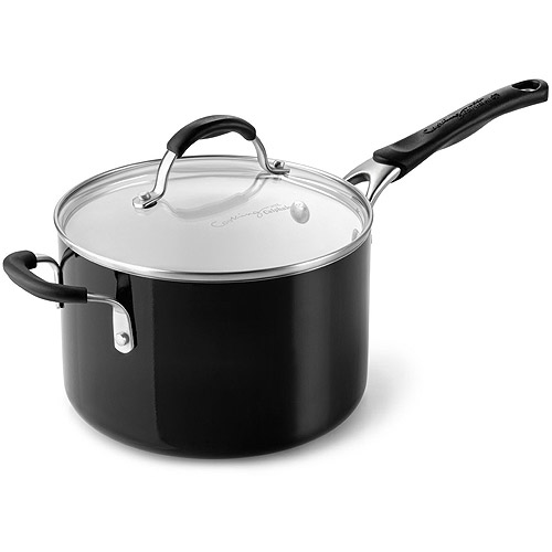 cooking with calphalon ceramic nonstick 4quart sauce pan