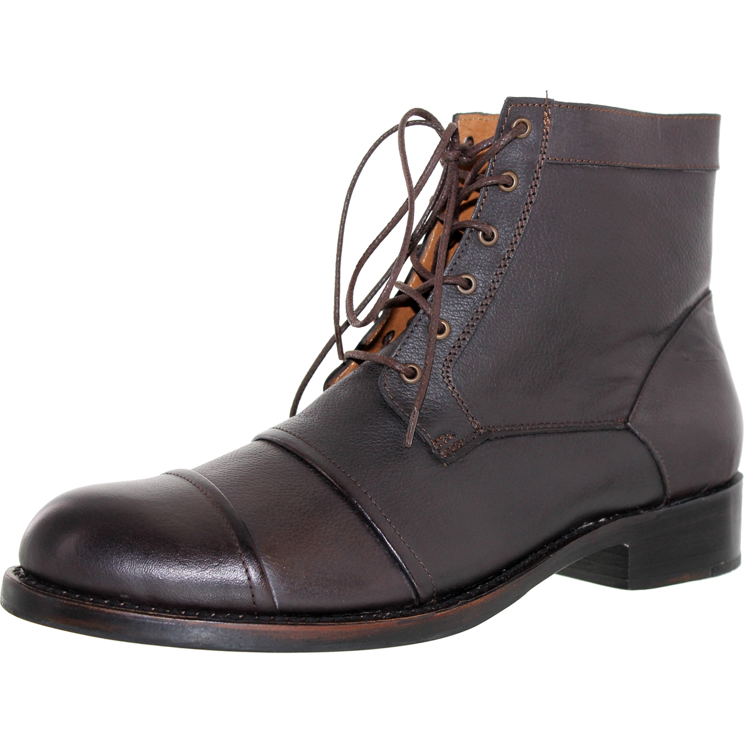 J.D. Fisk Men's Ono Brown Ankle-High Leather Boot - 10M