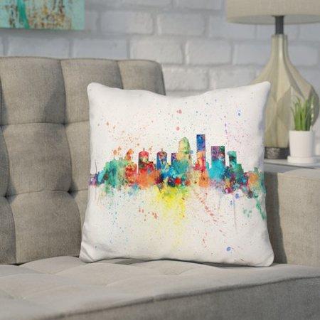 Wrought Studio Janus Louisville Kentucky City Throw Pillow (Party City Louisville Kentucky)