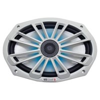 "MB Quart NK1-169L Nautic Series 6"" X 9"" 140-Watt 2-Way Coaxial Speaker System (with LED Illumination)"