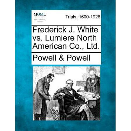 Frederick J. White vs. Lumiere North American Co.,
