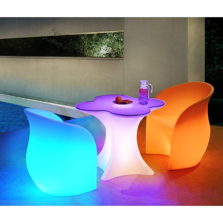 Sunnest Led Polyethylene Patio Bistro Set