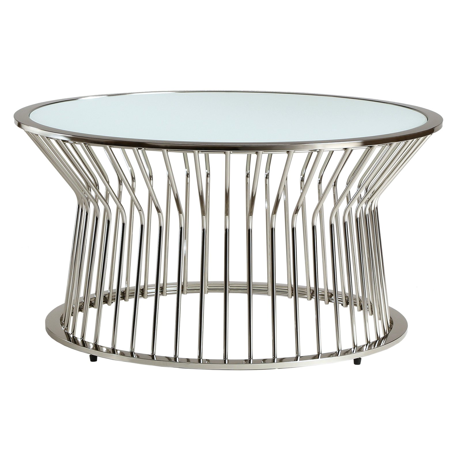 Chelsea Lane Planter Glass Top Cocktail Table by